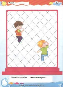 trace lines worksheets for kids