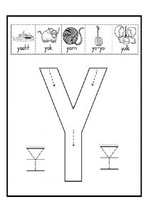 uppercase letter Y drawing for 1'st grade