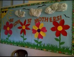 Bulletin board ideas to mothers day for preschool