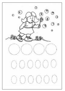 Circle Tracing - tracing circle worksheet for preschool