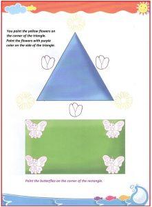 Corner and sides teaching worksheet for preschool and kindergarten