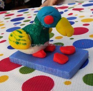 Craft idea to duck for pre-school