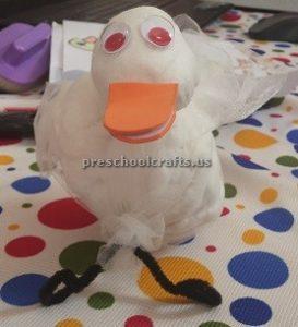 Craft idea to duck for preschool