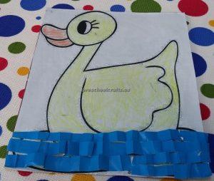 Duck craft for preschool