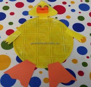Duck craft for preschooler