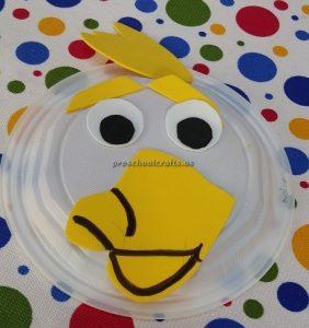 Duck craft ideas kindergarten - paper plate craft for preschool
