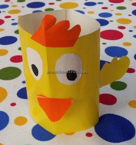 Duck craft ideas - paper cup craft for preschool