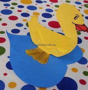Duck in the sea craft ideas for preschool kindergarten