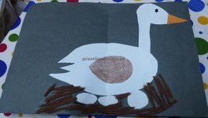 Easy duck craft for preschool