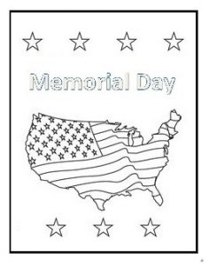 Flag Coloring Pages for Kids - Memorial Day coloring pages
