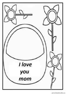 Free Printable Coloring Pages Related to Mother's Day