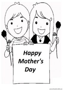Free Printable Mother's Day coloring page download for Preschooler