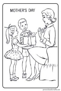 Free Printables Mother's Day Coloring Pages for Preschool
