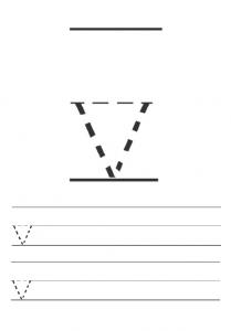Free printables lowercase letter v worksheet