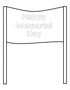Happy Memorial Day Flag coloring pages for kindergarten