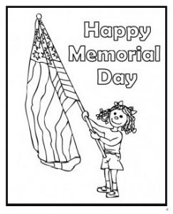 Happy Memorial Day coloring pages for kindergarten