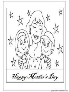 Happy Mother's Day Coloring Pages for Preschool