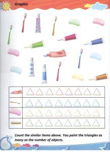 Kindergarten graphic learning homework - graphic worksheet for kindergarten