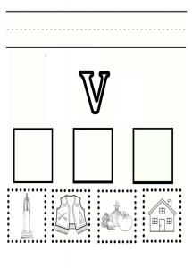 Lowercase letter v practice worksheet - printable trace the lowercase letter v