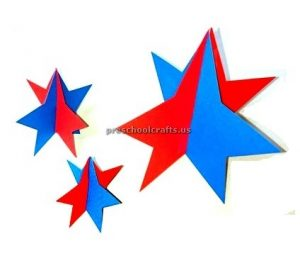 Make 3d stars to show your patriotism - memorial day craft