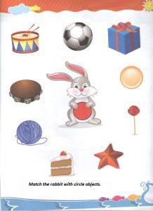 Match the circle - worksheet for preschool and kindergarten