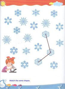 Matching shapes worksheet for preschool