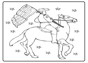 Memorial Day Coloring Pages for Preschool - Free Printable Horse Coloring Pages