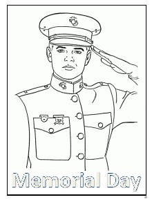 Memorial Day Coloring Pages for Preschool - Soldier Coloring Pages
