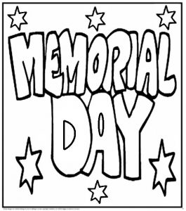 Memorial Day Coloring Pages for Primary School