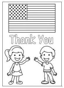 Memorial Day Flag Coloring Pages for Preschoolers