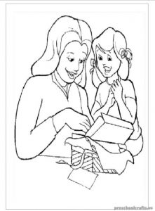 Mother's Day Coloring Pages for Kindergartners