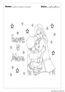 Mother's Day Coloring Pages for Preschool
