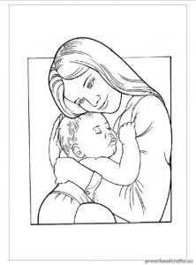 Mother's Day Coloring Pages for Preschooler