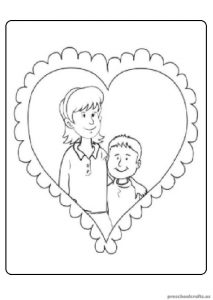Mother's Day Coloring Pages for Preschoolers