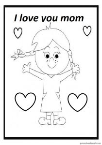 Mother's Day Free Printables Coloring Pages for Preschoolers