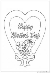 Mother's Day Free Printable Coloring Pages for Toddlers