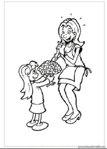 Mother's Day Preschool Coloring Pages & Free Printable