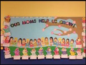 Mother's day kids themed bulletin board ideas for preschool