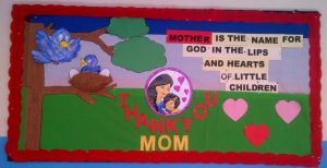 Mother's day themed bulletin board ideas for preschool