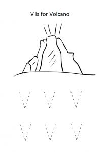 Printable uppercase letter v worksheet