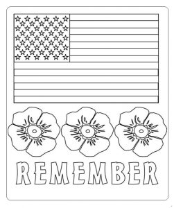 Remember Coloring Pages for Kids - Memorial Day coloring pages