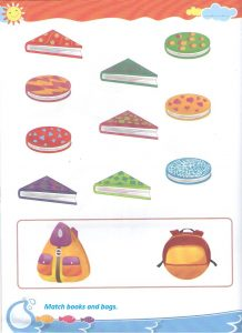 Shape match worksheet for preschool and kindergarten