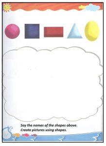 Shapes teaching worksheet for preschool