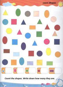 Shapes teaching worksheet for preschool and Kindergarten