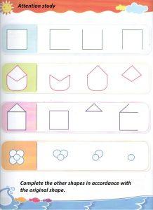 Shapes worksheet for preschooler