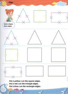Sides of the shapes worksheet for preschool and kindergarten