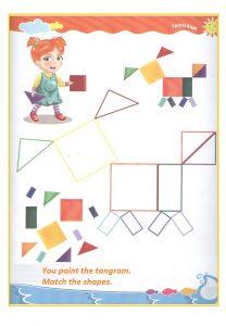 Tangram teaching worksheet for preschool