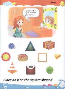 Worksheet to square for preschool