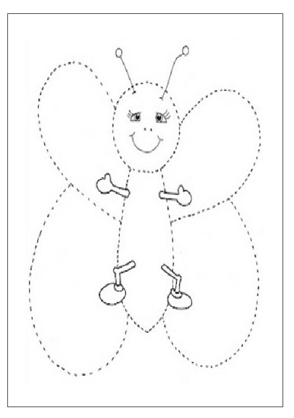 butterfly tracing worksheet for preschooler free printable ...