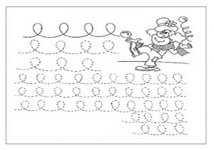 clown tracing page for preschool free printable